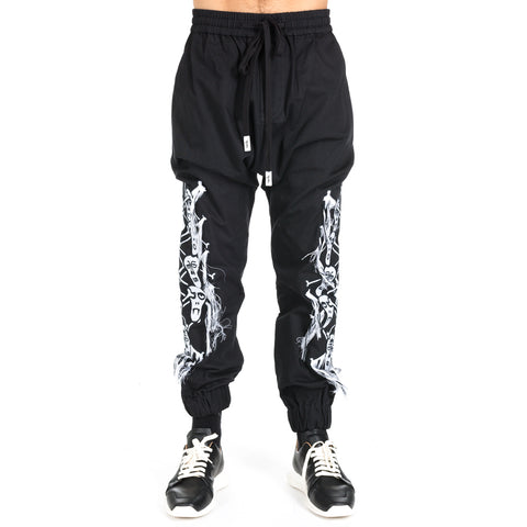 Skull Drop Crotch Joggers