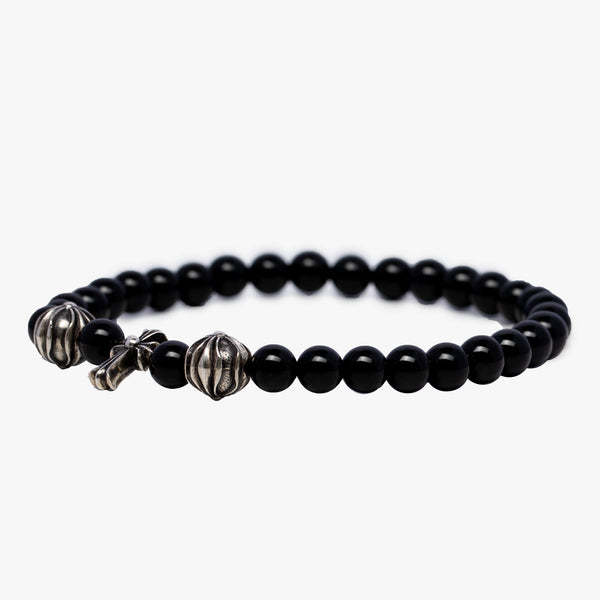 CH Ball Plus CH Cross Baby Fat Black Bead Bracelet