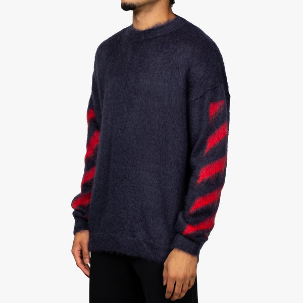 Diagonal Brushed Mohair Sweater