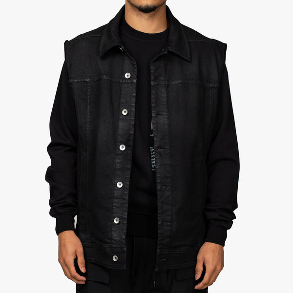 Sleeveless Oversized Worker Jacket