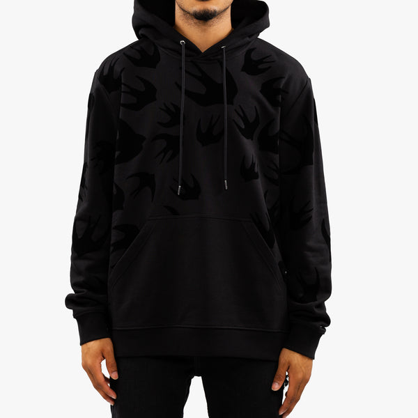 Swallow Swarm Flocked Hoody