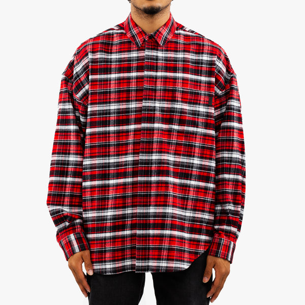 Distorted Plaid Shirt