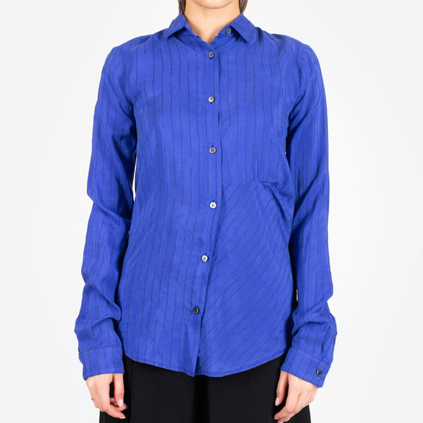 Stripe Draped Shirt