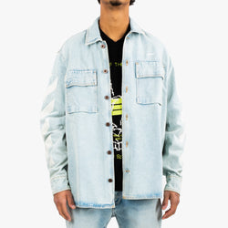 Diagonal Oversize Denim Shirt