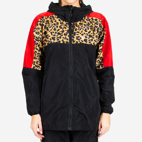 Ladies Leopard Block Windbreaker