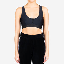 Elastic Zipper Sports Bra