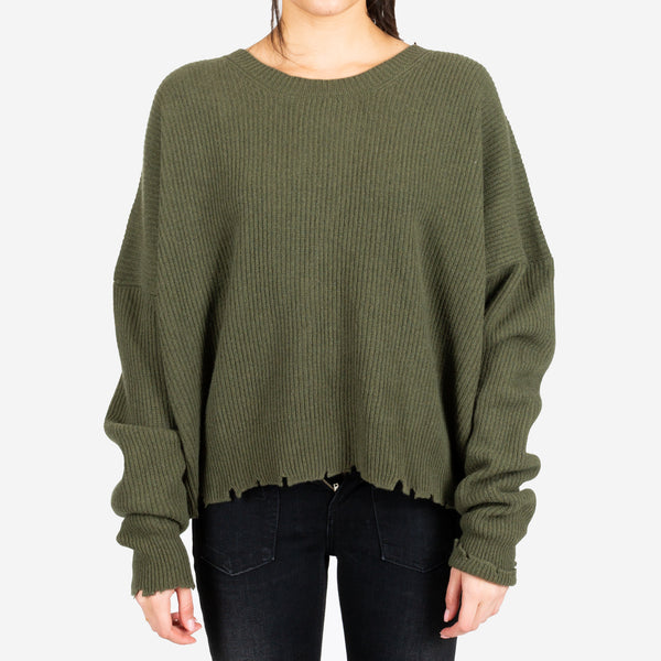 Rib Oversize Chopped Sweater