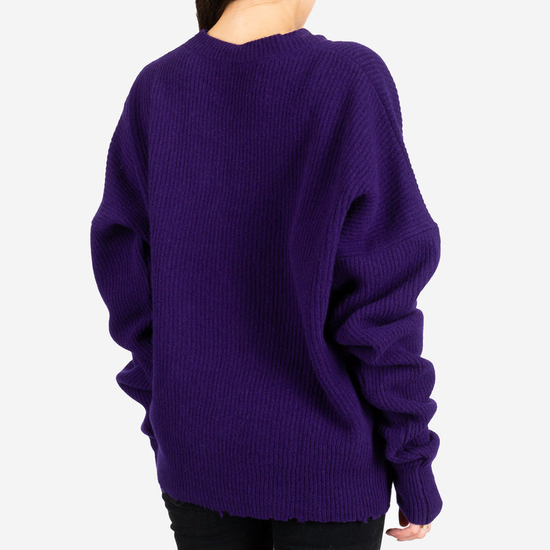 Rib Oversized Chopped Sweater
