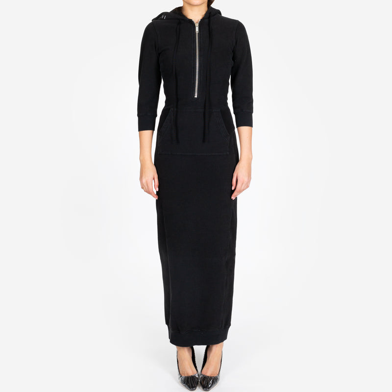 Terry Hooded Long Dress