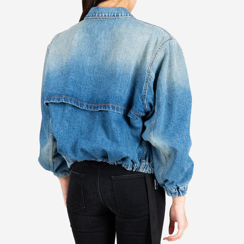 Dirty Drawstring Jean Jacket