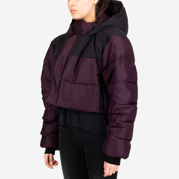 Silk Habotai Cropped Down Jacket