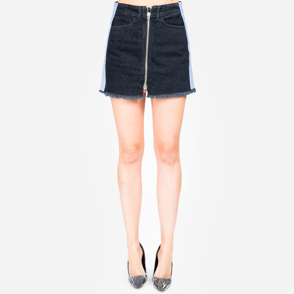 Cross Tape Denim Skirt