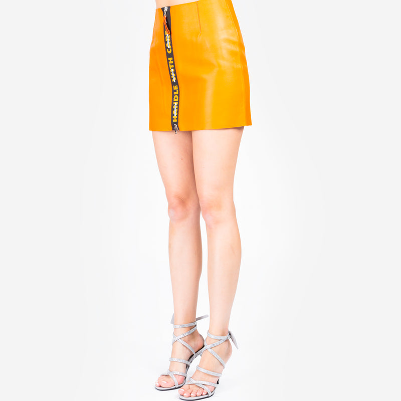 Handle Leather Skirt
