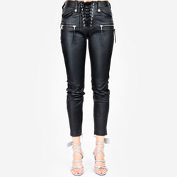 Plonge Skinny Lace Up Pants