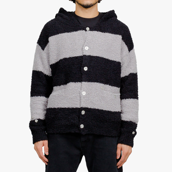MMJ Knitted Stripe Hooded Sweater