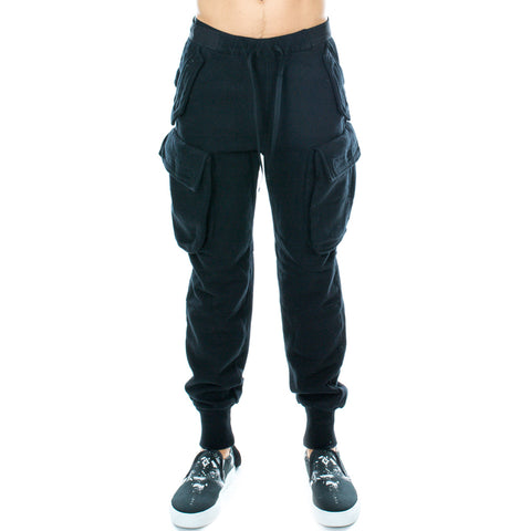 T-Brushed Cargo Dropcrotch Sweatpants