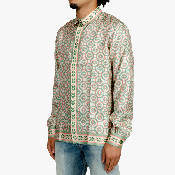Laurel Monogram LS Silk Shirt