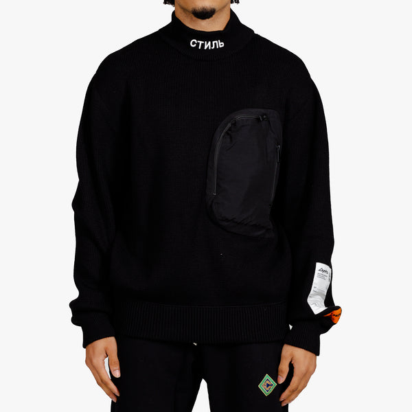 CTNMB Mock Neck Pocket Sweater