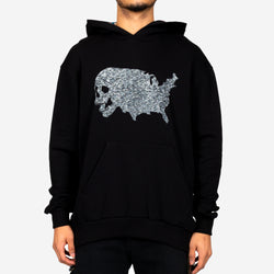 USA Skull Tweed Hoody
