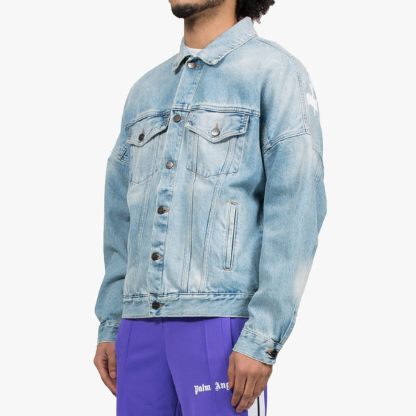 Logo Over Denim Jacket
