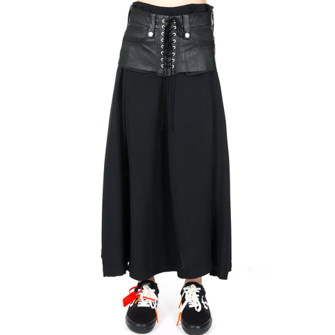 Silk Lace Up Corset Skirt