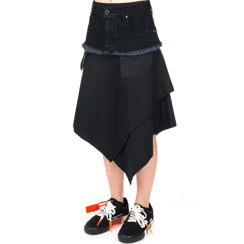 Tela Asymmetrical Denim Skirt