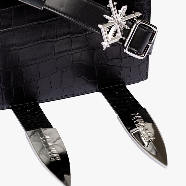Dagger Croc Cross Body Bag