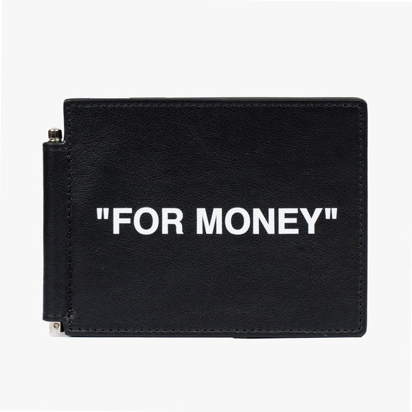 Calf Skin Quote Bill Clip Wallet