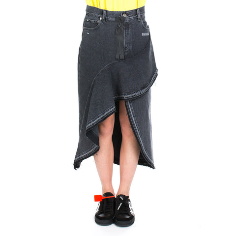 Denim Ruffles Skirt