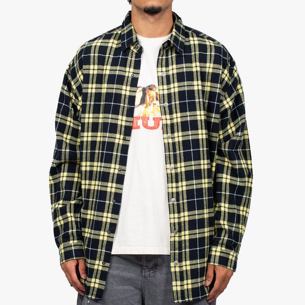 Stereo Yellow Check Shirt