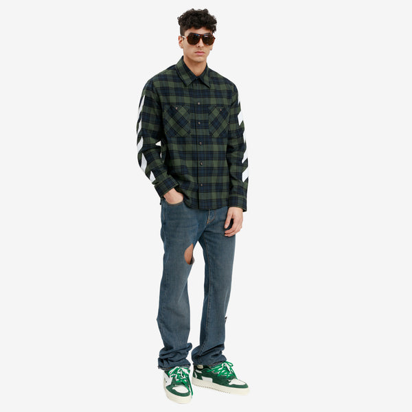 Diagonal Flannel Shirt