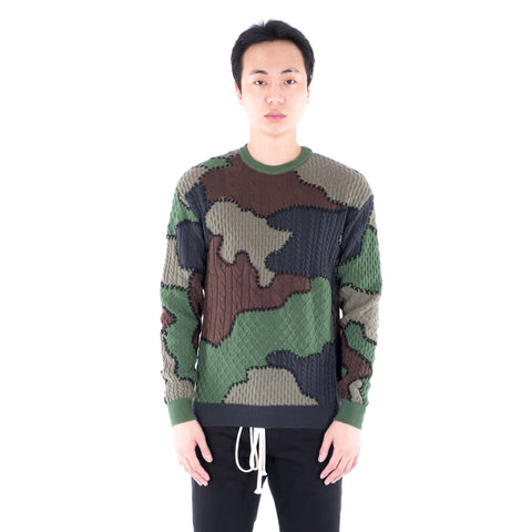 Camouflage Knit Sweater