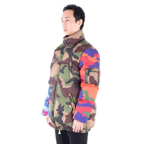 Camouflage Puffer Long Coat