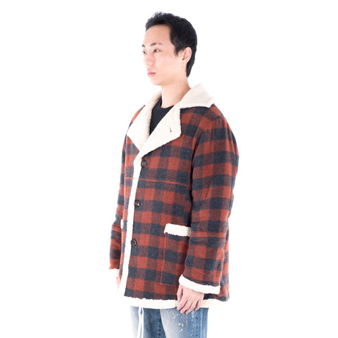 Court Plaid Shearling Coat