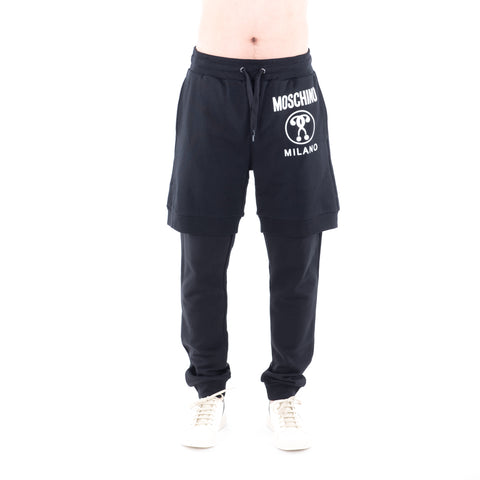 Question Mark Layered Sweatpants