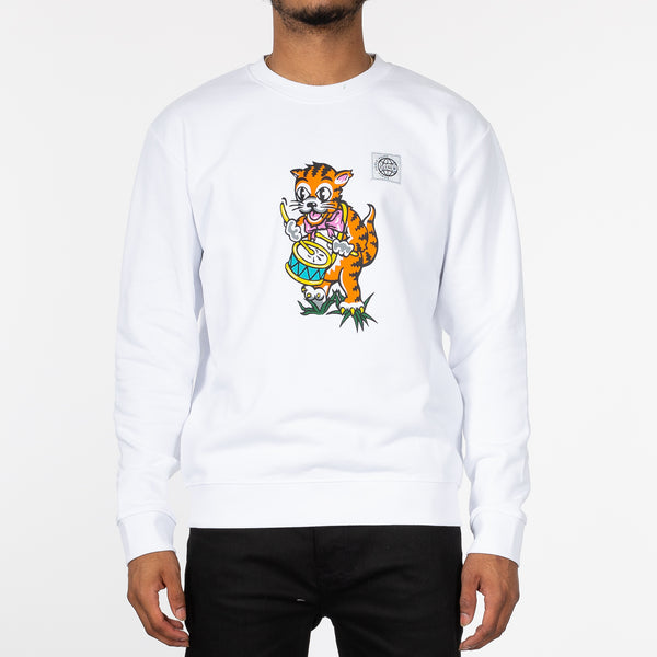 Drumming Tiger Sweatshirt