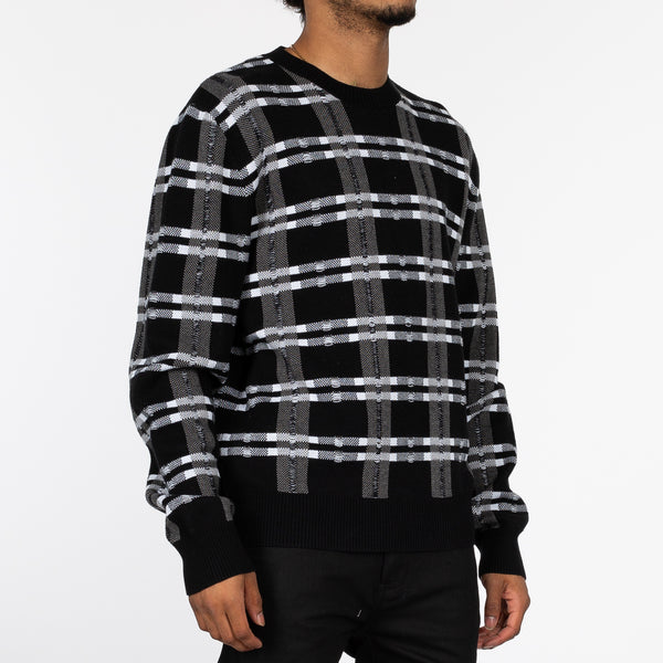 Loose Check Sweater