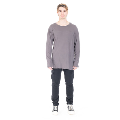 StampdLA Chamber Scallop Long Sleeve T-Shirt at Feuille Luxury - 7