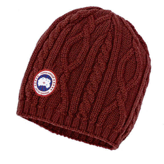 Canada Goose Ladies Cable Knit Beanie at Feuille Luxury - 2