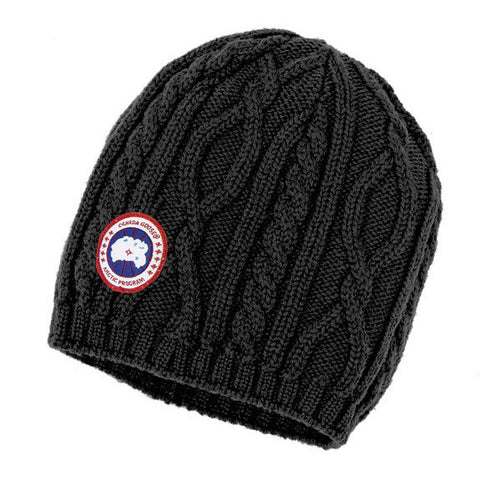 Canada Goose Ladies Cable Knit Beanie at Feuille Luxury - 1