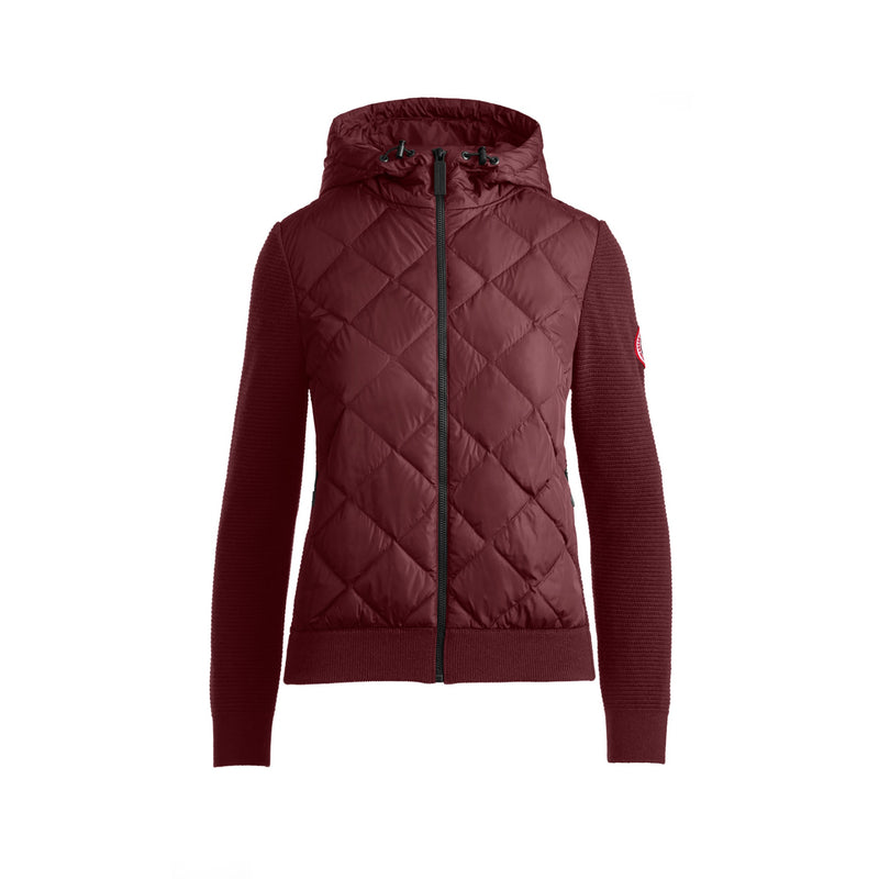 Ladies Hybridge Quilted Knit Hoody