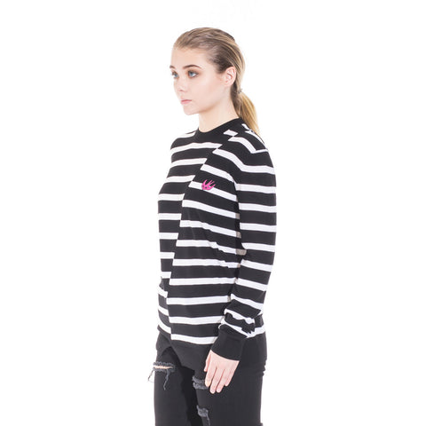 Alexander McQueen McQ Distorted Stripe Sweater at Feuille Luxury - 3