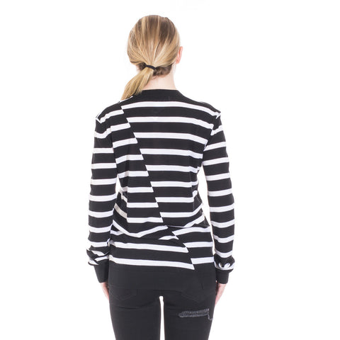 Alexander McQueen McQ Distorted Stripe Sweater at Feuille Luxury - 4