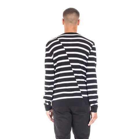 Alexander McQueen McQ Distorted Stripe Sweater at Feuille Luxury - 6