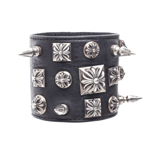 Chrome Hearts Disheveled Leather Bracelet at Feuille Luxury - 1