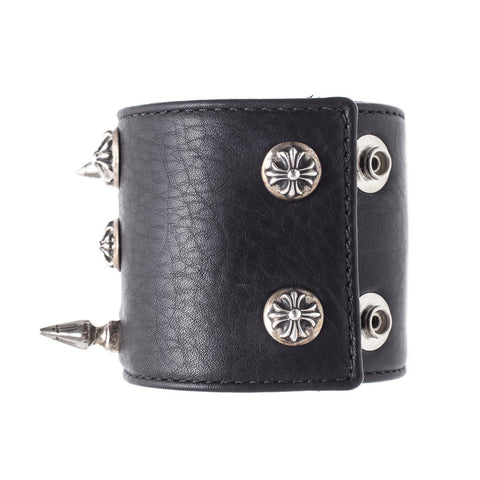 Chrome Hearts Disheveled Leather Bracelet at Feuille Luxury - 4