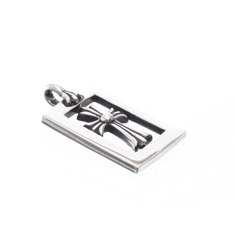 Chrome Hearts Open Frame Baby Fat Cross Charm at Feuille Luxury - 2