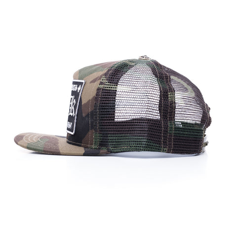 Chrome Hearts F#CK Patch Camo Trucker Cap at Feuille Luxury - 2