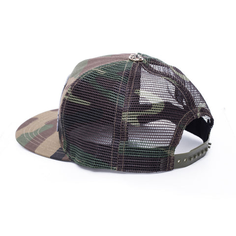 Chrome Hearts F#CK Patch Camo Trucker Cap at Feuille Luxury - 3