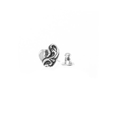Chrome Hearts CH Heart Stud Earring at Feuille Luxury - 2